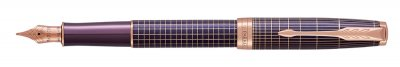 Parker Royal Sonnet Purple Chiselled PGT, plnicí pero