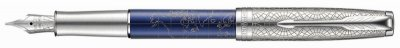 Parker Royal Sonnet Atlas Blue Silver CT, plnicí pero