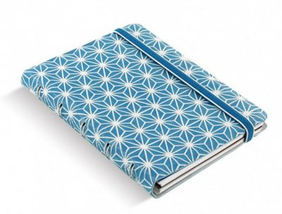 Filofax Impressions Blue and White A6 zápisník